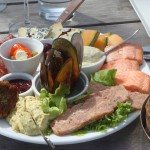 Lunch platters at Central Otago vineyards with Wanaka Wine Tasting